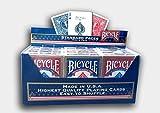 Paket von 12 Pokerkarten Bicycle Standard (6 Blau / 6 Rot)
