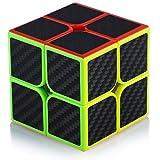 Maomaoyu Zauberwürfel 2x2 2x2x2 Original Speed Cube Magic Cube Puzzle Magischer Würfel Kohlefaser Aufkleber für Schneller und Präziser mit Lebendigen Farben