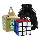Cubikon Original Rubik's Cube 3x3 Der Umwelt zuliebe - 3x3 Zauberwürfel in umweltfreundlicher Verpackung - inkl Tasche